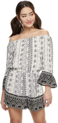 Mudd Juniors' Off The Shoulder Romper