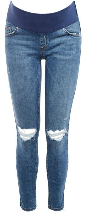 Topshop Topshop Maternity blue rip jamie jeans