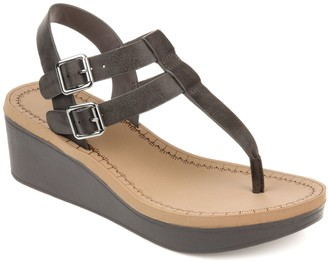 79fbce223a3 Journee Collection Gray Wedges on Sale - ShopStyle