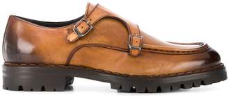 Eleventy leather buckled loafers