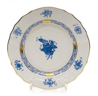 """Herend Chinese Bouquet Blue Bread & Butter, 6"""""""