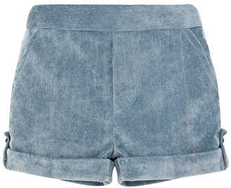 Carrera Pili Corduroy Rolled-Cuffs Shorts, Size 6M-3
