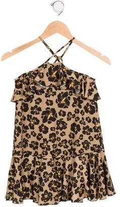 DSQUARED2 Girls' Ruffled Leopard Print Dress w/ Tags