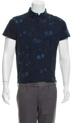 Valentino Butterfly Print Polo Shirt