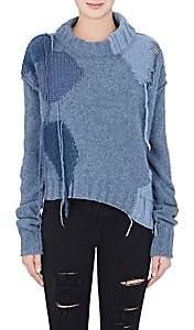 Acne Studios Women's Ovira Wool-Blend Crop Sweater-Blue Combo