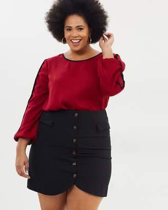 Sasha Button Front Skirt