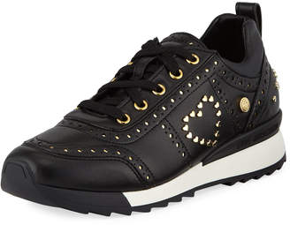 Love Moschino Power Studded Platform Sneakers, Black/Gold