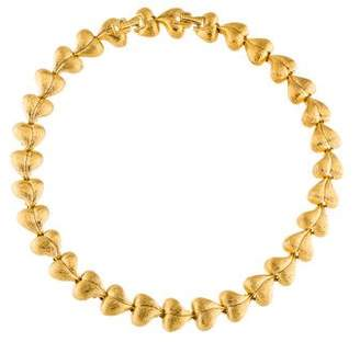 Nina Ricci Heart Link Collar Necklace
