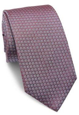 Hugo BossHUGO BOSS Geometric Printed Silk Tie