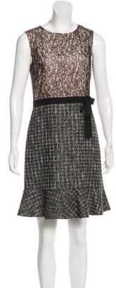 RED Valentino Tweed-Lace Mini Dress
