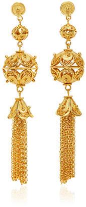 Mallarino Gala Embellished Ball and Tassel Earrings