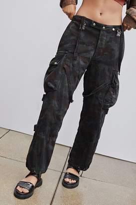 Urban Renewal Vintage Overdyed Camo Suspender Pant