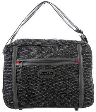 Oscar de la Renta Leather-Trimmed Tweed Suitcase