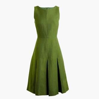 J.Crew Pleated linen sheath dress