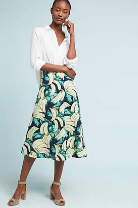 Eva Franco Banana Midi Skirt