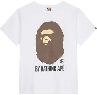 A Bathing Ape Large logo cotton T-shirt 4-8 years $72 thestylecure.com