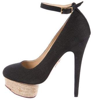 Charlotte Olympia Dolly Ankle-Strap Pumps