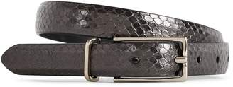 Reiss ORDER BY MIDNIGHT DEC 15TH FOR CHRISTMAS DELIVERY MORI SNAKE-PRINT LEATHER BELT Pewter