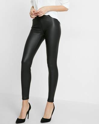 Express Petite Faux Leather Leggings