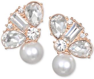 Badgley Mischka Crystal & Imitation Pearl Stud Earrings