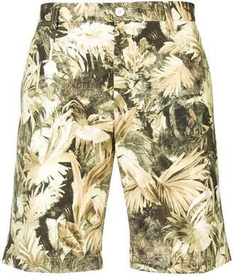 Etro leaf print shorts