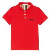 Burberry Logo Cotton Pique Polo