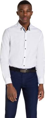 yd. WHITE GIBSON SLIM FIT DRESS SHIRT