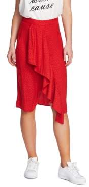 1 STATE 1.State 1.state Leopard Printed Ruffled Skirt