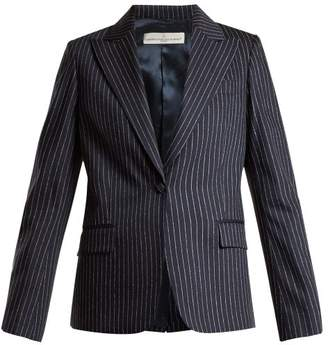 Golden Goose Venice Pinstripe Tailored Jacket - Womens - Navy Stripe