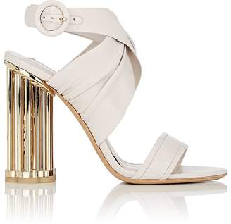 Salvatore Ferragamo Women's Caged-Heel Leather Sandals