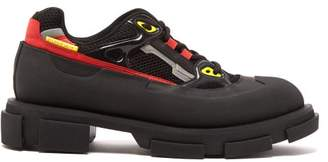 Both - Gao Mesh And Rubber Exaggerated Sole Trainers - Mens - Black Multi