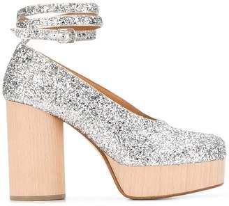 Maison Margiela high-heel glitter sandals