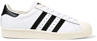 Adidas Originals - Superstar Leather Sneakers - White $110 thestylecure.com