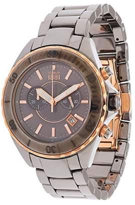 Cerruti Men's Analogue Quartz Watch with Ceramic Bracelet – CRA077Z281H