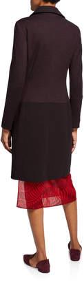 Akris Fido Asymmetric Wool Coat