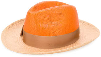 Borsalino two tone sun hat