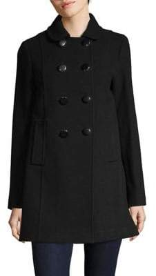 Kate Spade Double-Breasted Wool-Blend Coat