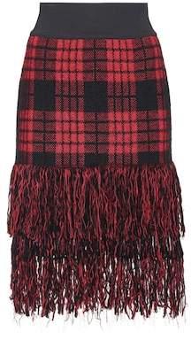 Balmain Mohair and wool-blend skirt