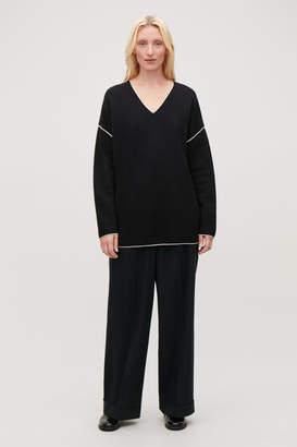 Cos MERINO JUMPER WITH CONTRAST EDGE