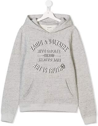 Zadig & Voltaire Kids TEEN Art is Truth print hoodie
