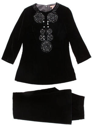 Tory Burch Velvet Embellished Pant Suit $85 thestylecure.com