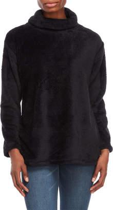Rafaella Black Soft Plush Pullover
