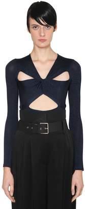 Givenchy Lycra Knit Bodysuit W/ Cut Outs