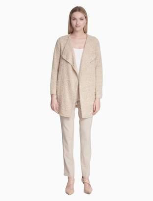 Calvin Klein Textured Long Flyaway Jacket