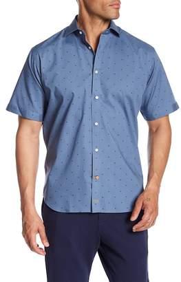 Thomas Dean Stitch Dot Regular Fit Shirt