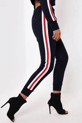 I SAW IT FIRST Navy Joggers With Trim