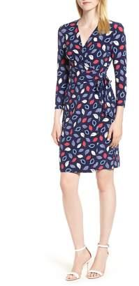 Anne Klein Print Faux Wrap Dress