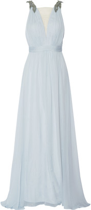 Marchesa Notte Embellished silk gown $1,005 thestylecure.com