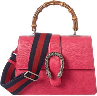 Gucci Dionysus Medium Bamboo Top Handle Leather Shoulder Bag