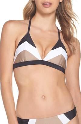 Pilyq Colorblock Triangle Bikini Top